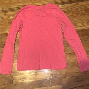 GAP Shirts & Tops - Hot Pink GapKids V Neck Long Sleeve Shirt